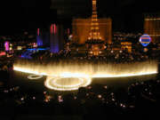 Bellagio Fountain Show Night