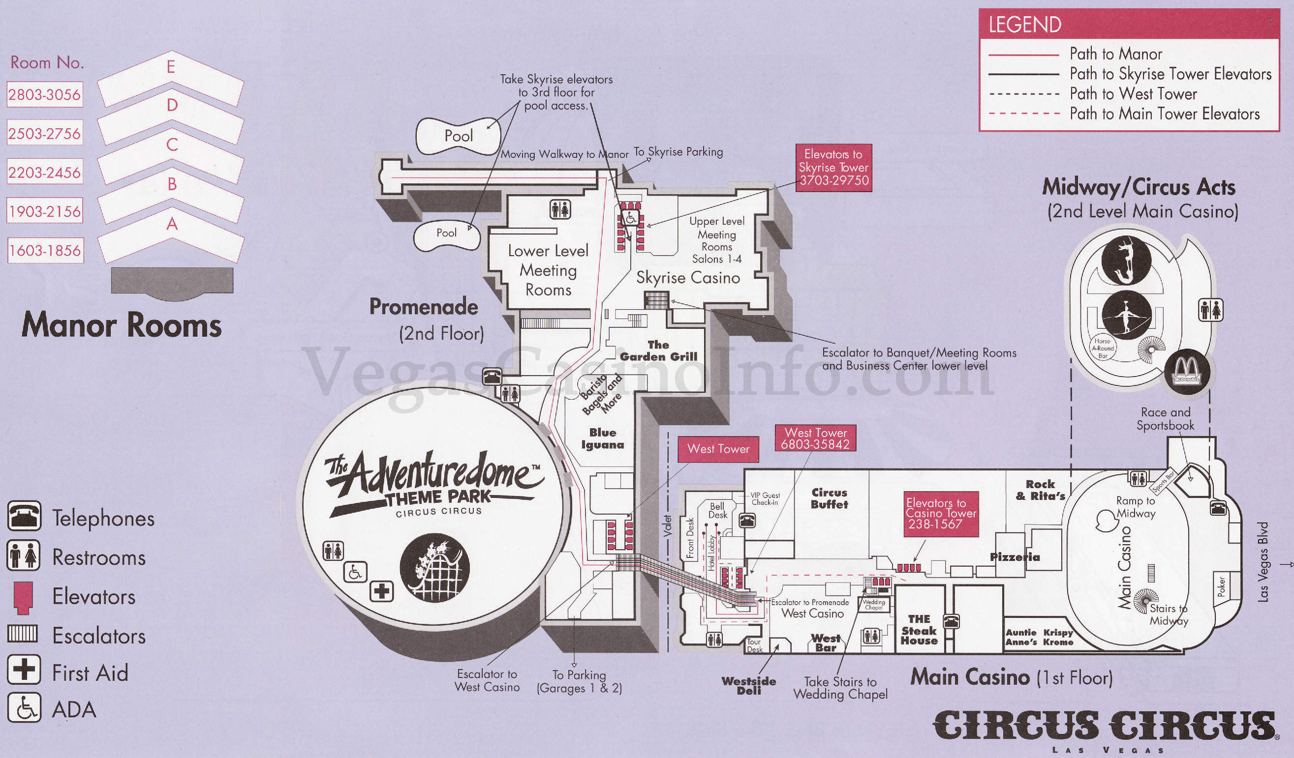Map Of Circus Circus Las Vegas | Virginia Map