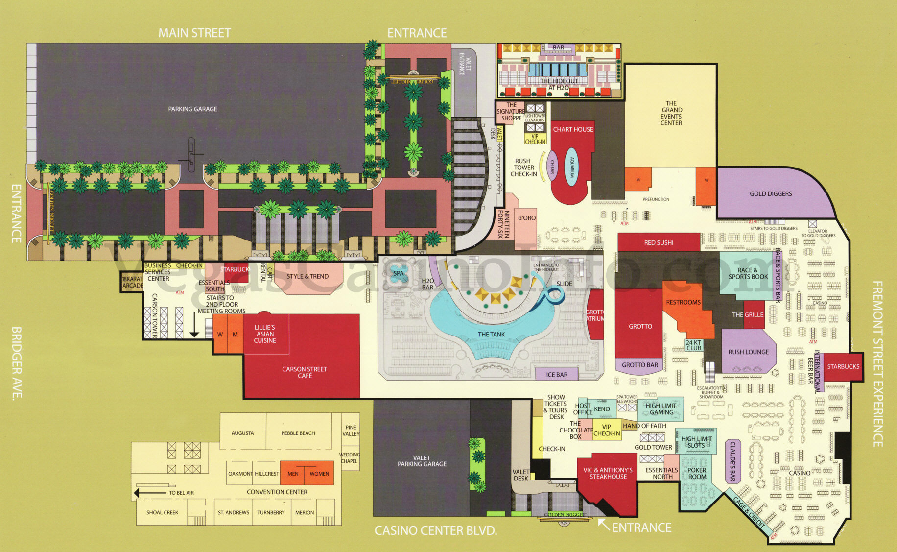 Jw Marriott Las Vegas Map.Las Vegas Casino Property Maps And Floor Plans Vegascasinoinfo Com