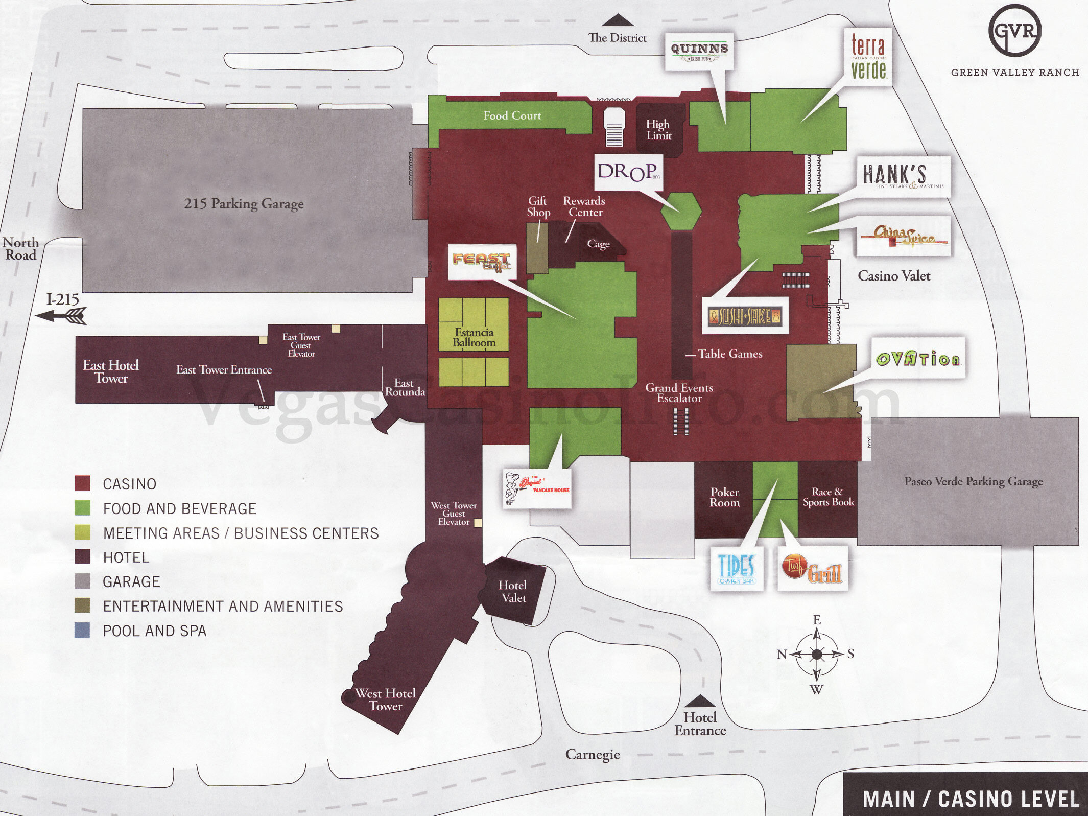 Las vegas casino property maps and floor plans Green plans