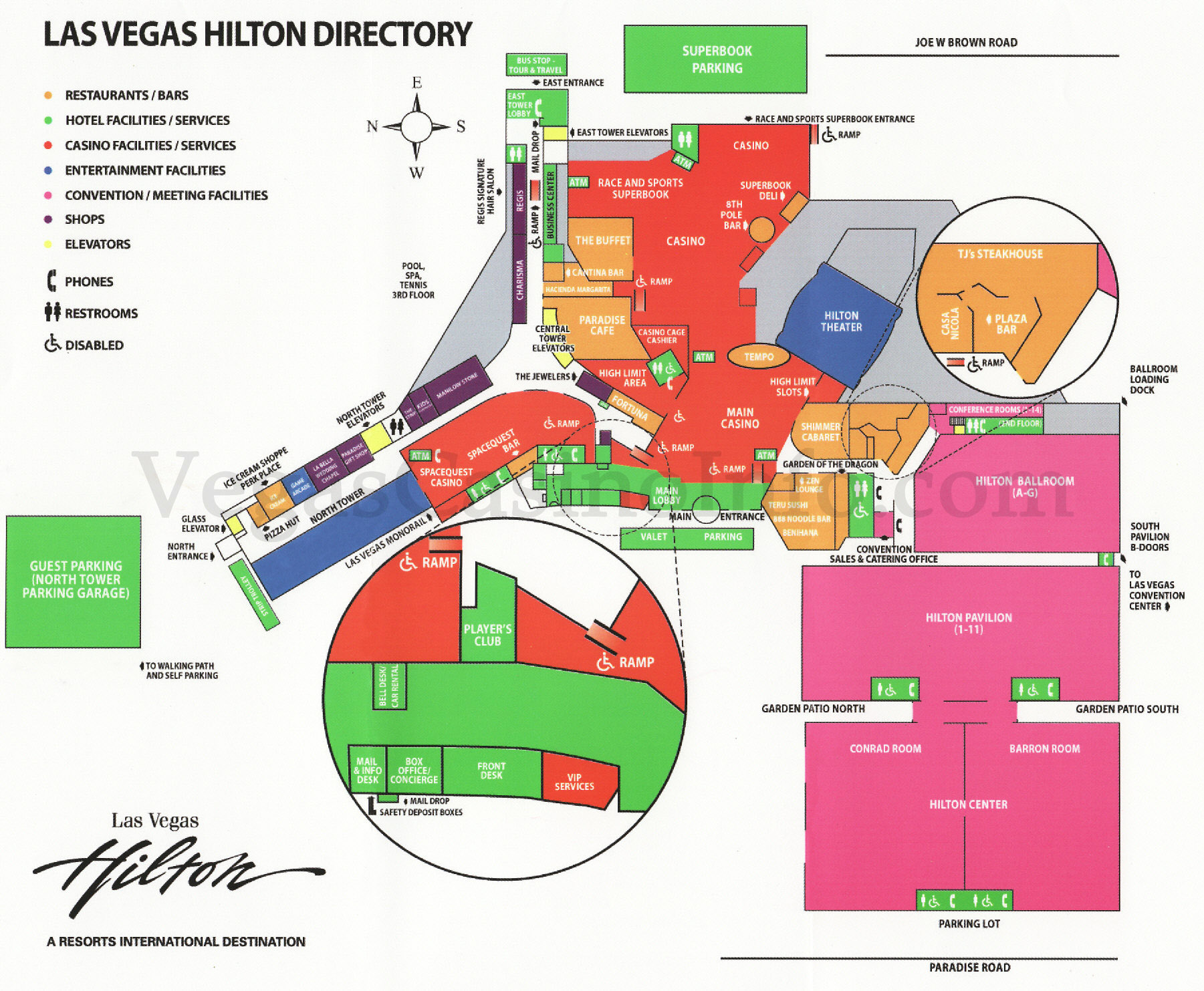 Las Vegas Casino Property Maps And Floor Plans VegasCasinoInfocom - Las vegas floor plans