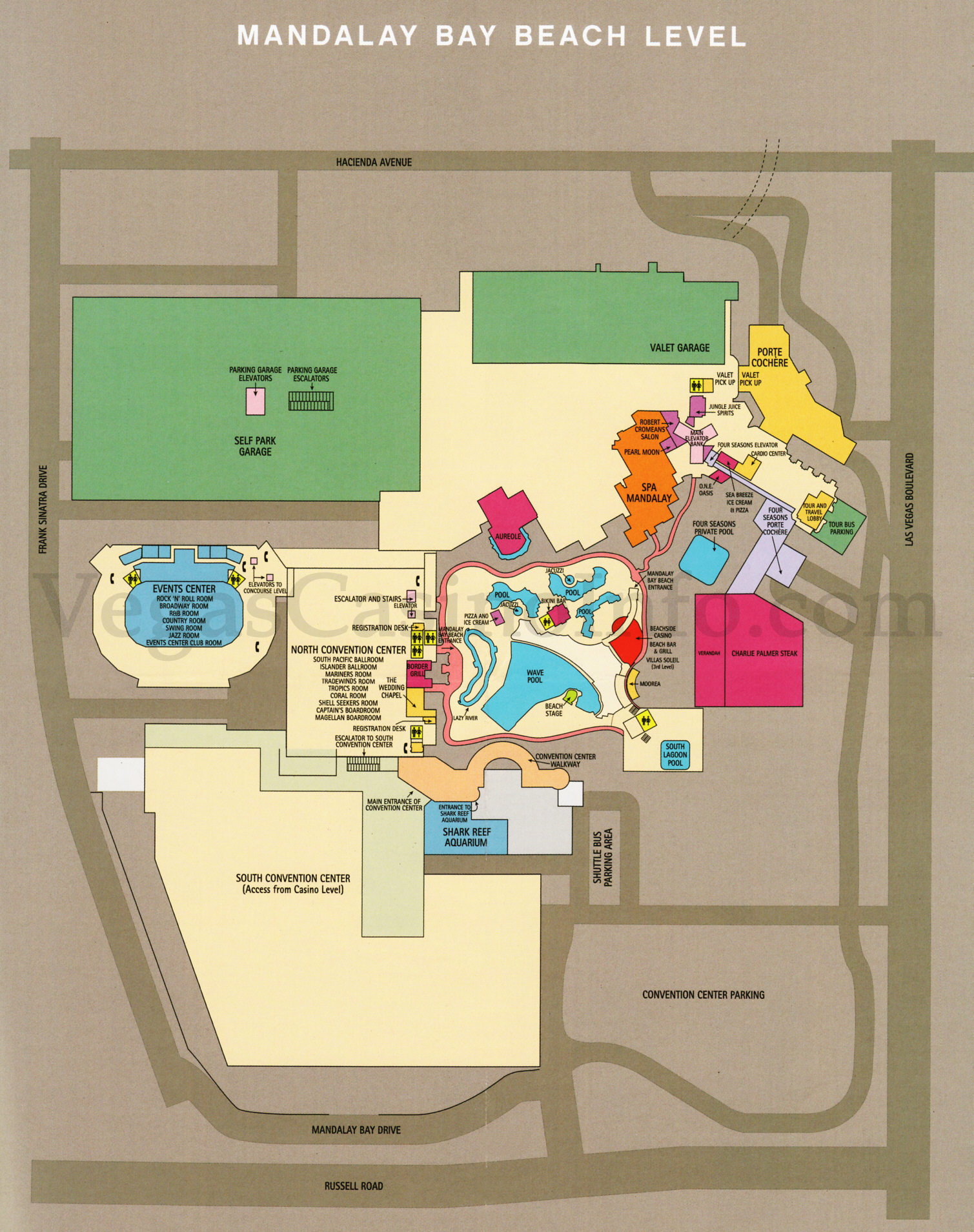 Las Vegas Casino Property Maps and Floor Plans | VegasCasinoInfo.com