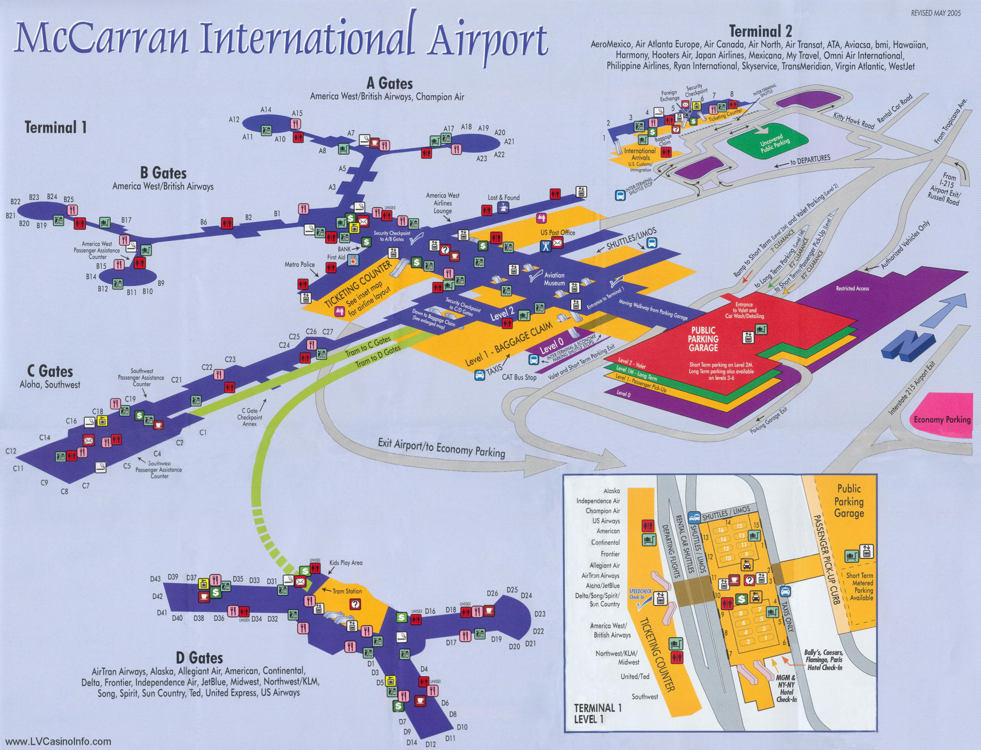 Las Vegas Casino Property Maps and Floor Plans | VegasCasinoInfo.com