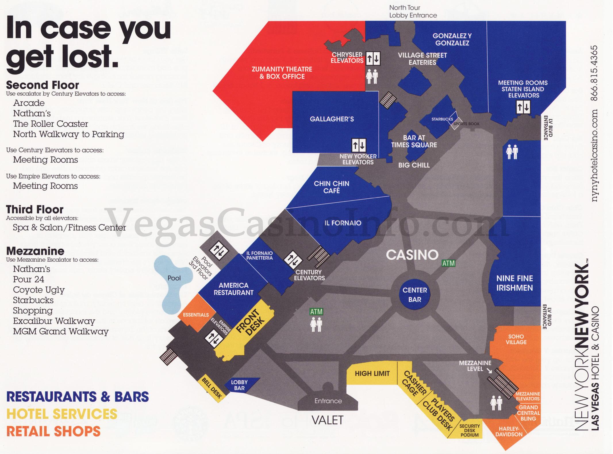 Map Of New York New York Hotel.Map Of New York New York Casino Twitterleesclub