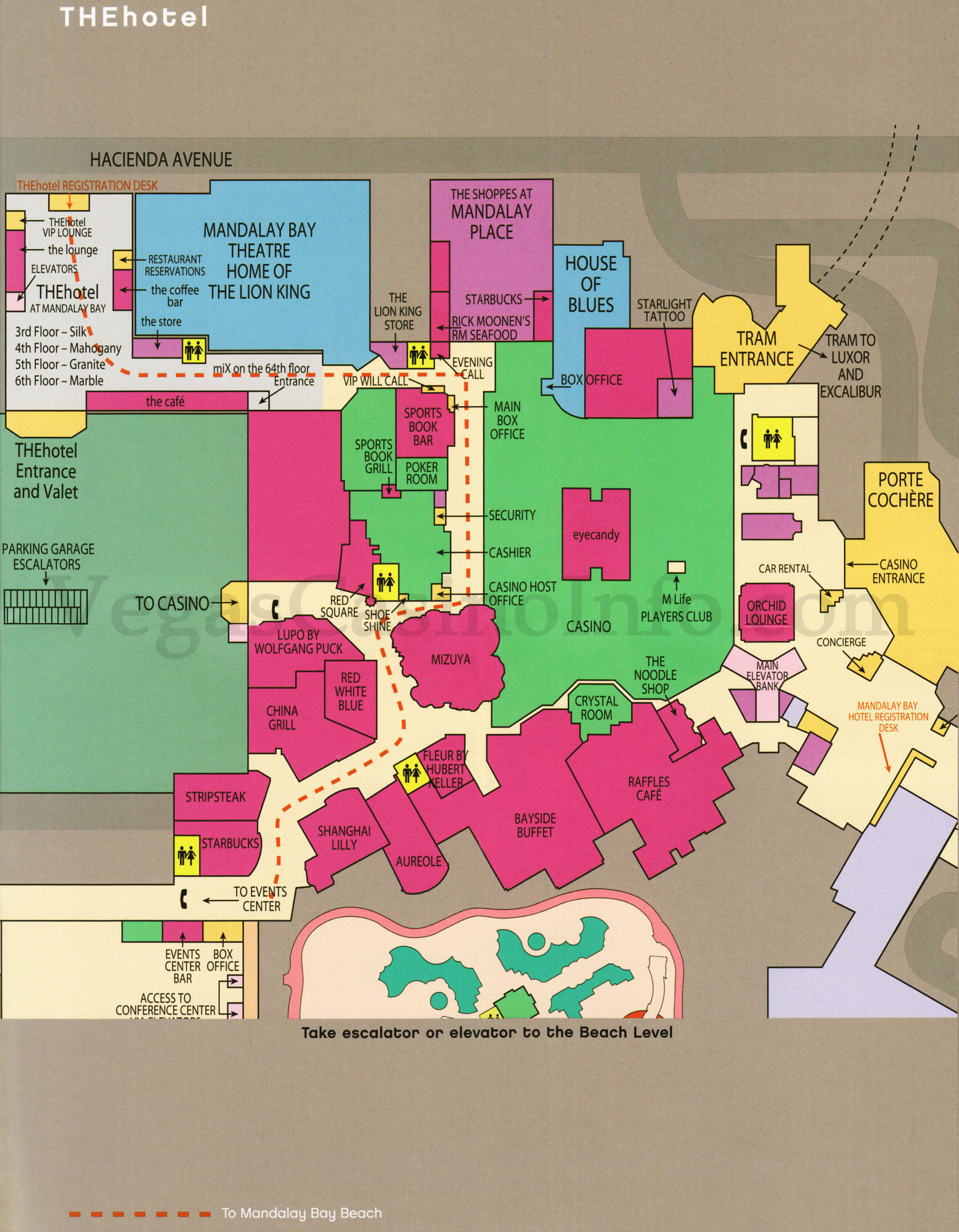 Las Vegas Casino Property Maps and Floor Plans VegasCasinoInfocom